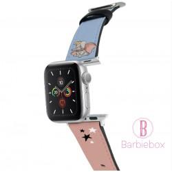 迪士尼 Apple Watch十字紋牛皮錶帶(小飛象)