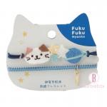 日本Fuku貓咪防靜電刺繡手鍊(1)(淺藍)