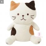日本Fuku貓咪毛毛大擁抱公仔XL (啡白貓咪)