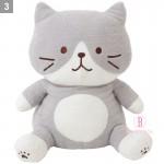 日本Fuku貓咪毛毛大擁抱公仔XL (灰白貓咪)