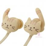 日本Fuku貓咪貓尾掛耳式無線藍牙耳機(茶茶x粉藍)