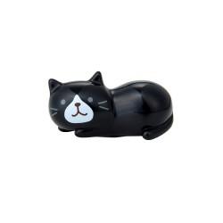 日本Fuku貓咪可愛趴著筷子座(黑貓咪)