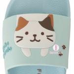 日本Fuku貓咪懸掛款柔軟家居涼鞋(啡白貓咪)