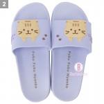 日本Fuku貓咪懸掛款柔軟家居涼鞋(茶茶)