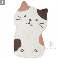 日本Fuku貓咪裝可愛造型涼感被子(啡白貓咪)