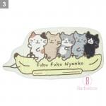日本Fuku貓咪齊集香蕉船涼感被子