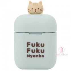 日本Fuku貓咪主題無線藍牙耳機(粉藍茶茶)