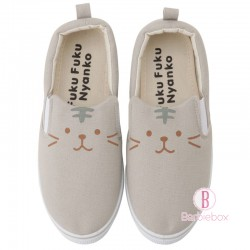 日本Fuku貓咪大臉耳仔舒適日常鞋(灰貓咪)