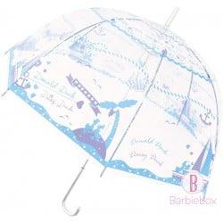 迪士尼印花透明直傘(海洋唐老鴨Daisy)
