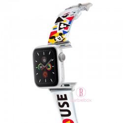Disney Apple Watch透明PVC錶帶連保護殻(米奇三角款)
