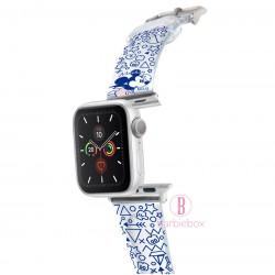 Disney Apple Watch透明PVC錶帶連保護殻(米奇藍色款)