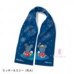 迪士尼純綿可愛運動頸部毛巾(煙花下米奇米妮)