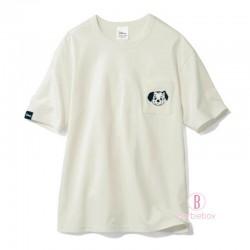 迪士尼[男女通用]個性口袋角色純棉TEE (101斑點狗白色)