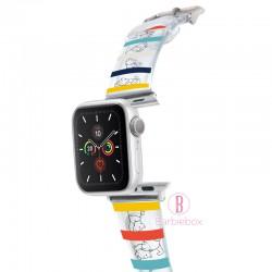 Disney Apple Watch透明PVC錶帶連保護殻(橫間維尼款)