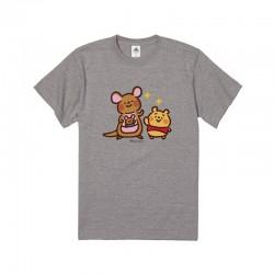 [童裝/男/女裝] 迪士尼 x Kanahei 畫風大圖棉質TEE (維尼袋鼠) (三色選)