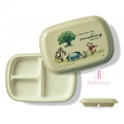 [日本製]維尼系列耐冷耐熱食物盤子盒(維尼朋友百畝林)