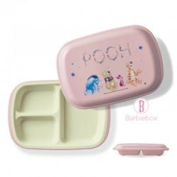 [日本製]維尼系列耐冷耐熱食物盤子盒(粉色維尼朋友仔)