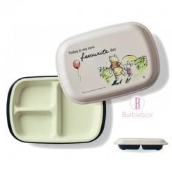 [日本製]維尼系列耐冷耐熱食物盤子盒(日落下維尼豬仔)