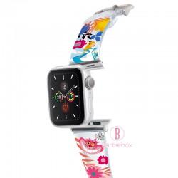 Disney Apple Watch透明PVC錶帶連保護殻(愛麗絲妙妙貓)
