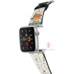 迪士尼 Apple Watch十字紋牛皮錶帶(小飛俠)