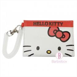 Sanrio皮革款大臉系卡片套(Hello Kitty)