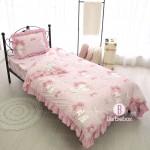 Sanrio寬版花邊系列單人床單枕袋連被袋套裝(Melody)