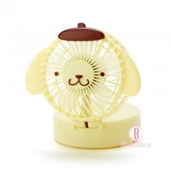 Sanrio夏日2Way掛頸/坐枱可愛盒子型風扇(布甸狗)