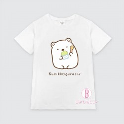 清涼感系[台灣製]角落生物雪糕主題童裝Tee(白熊)