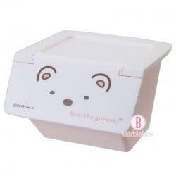 角落生物日本揭式桌上收納箱(白熊)