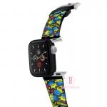 Disney Apple Watch透明PVC錶帶連保護殻(滿版三眼仔)